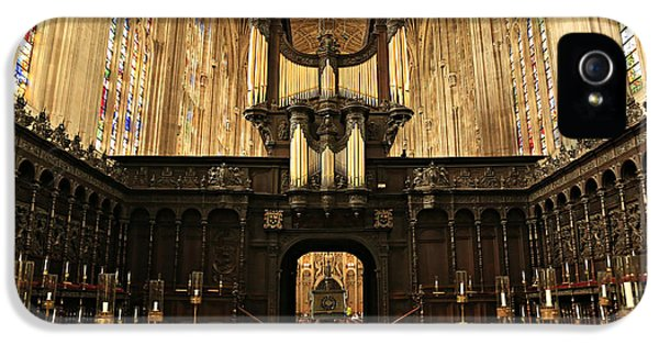 Organ iPhone 5 Cases - Organ and Choir - Kings College Chapel iPhone 5 Case by Stephen Stookey