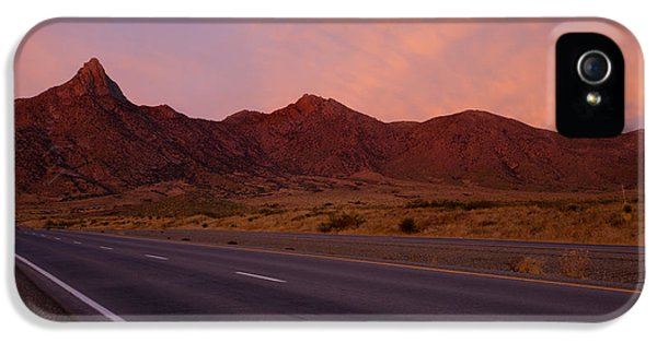 Organ iPhone 5 Cases - Organ Mountain Sunrise Highway iPhone 5 Case by Mike  Dawson