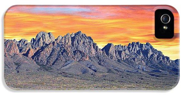 Organ iPhone 5 Cases - Organ Mountain Sunrise iPhone 5 Case by Jack Pumphrey