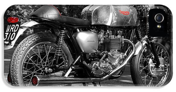 Cafe iPhone 5 Cases - Original Cafe Racer iPhone 5 Case by Mark Rogan