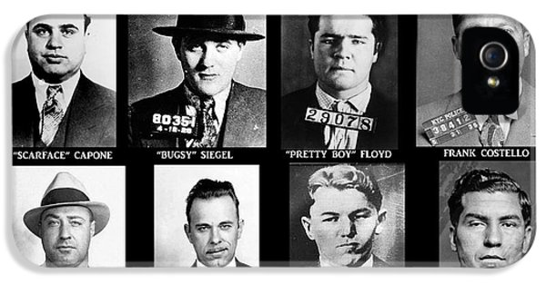 Poster iPhone 5 Cases - Original Gangsters - Public Enemies iPhone 5 Case by Paul Ward