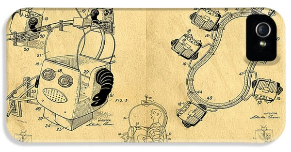 Robot iPhone 5 Cases - Original Patent for Robot Amusement Park Ride iPhone 5 Case by Edward Fielding