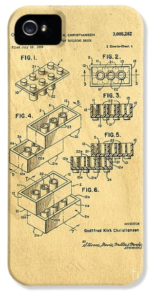 Original Us Patent For Lego IPhone 5 / 5s Case by Edward Fielding