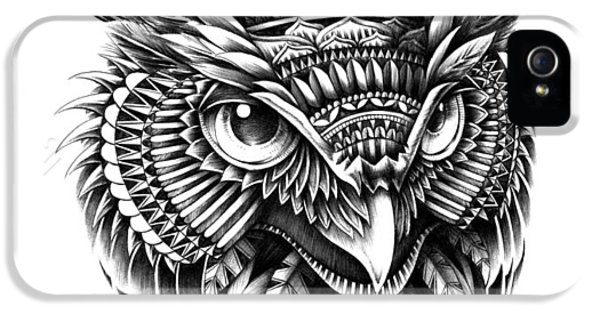 Wise iPhone 5 Cases - Ornate Owl Head iPhone 5 Case by BioWorkZ