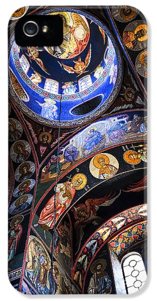 Mosaic iPhone 5 Cases - Orthodox church interior iPhone 5 Case by Elena Elisseeva