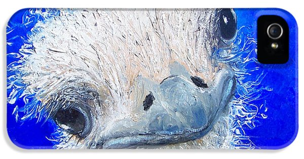 Ostrich Painting 'waldo' By Jan Matson IPhone 5 / 5s Case by Jan Matson