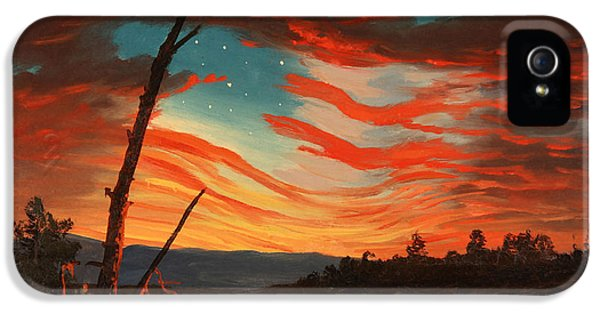 Us Flag iPhone 5 Cases - Our Banner In The Sky iPhone 5 Case by War Is Hell Store