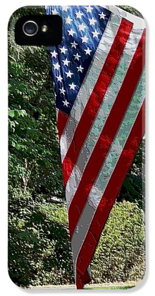 Stars And Strips iPhone 5 Cases - Our Flag iPhone 5 Case by Annette Allman