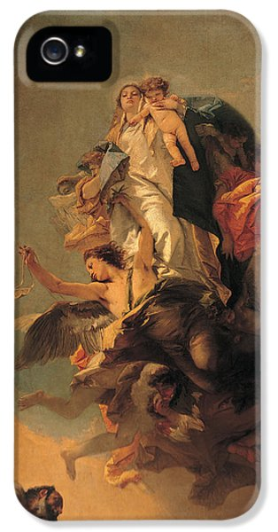 Angelic iPhone 5 Cases - Our Lady of Mount Carmel  iPhone 5 Case by Tiepolo Giambattista