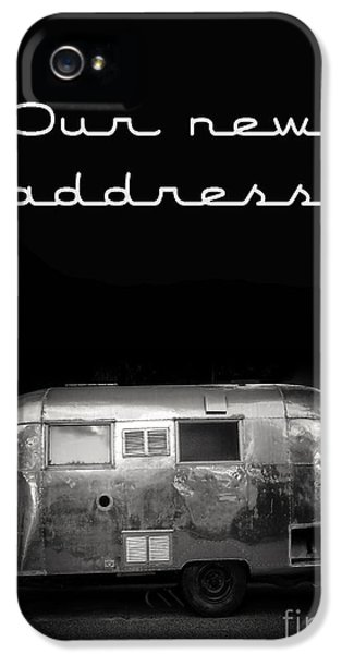 Trailer iPhone 5 Cases - Our New Address Announcement Card iPhone 5 Case by Edward Fielding