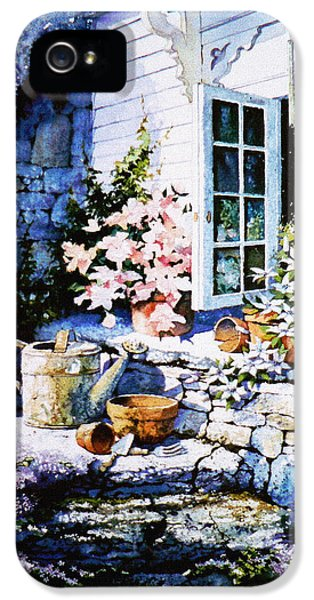 Potting Shed iPhone 5 Cases - Over Sleepy Garden Walls iPhone 5 Case by Hanne Lore Koehler