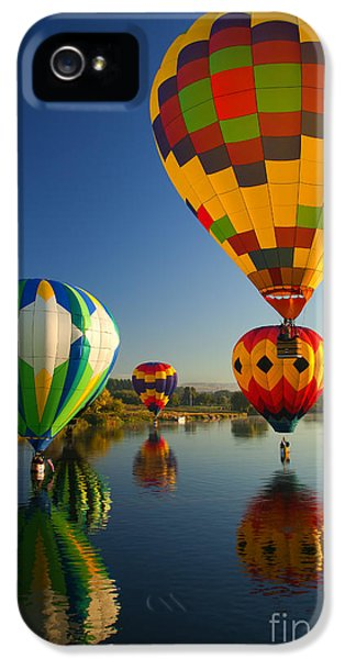 Balloon iPhone 5 Cases - Over the Water iPhone 5 Case by Mike  Dawson