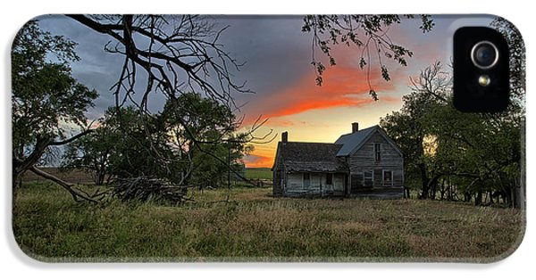 Old Houses iPhone 5 Cases - Overgrown iPhone 5 Case by Thomas Zimmerman