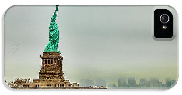 Statue Photographs iPhone 5 Cases - Overlooking Liberty iPhone 5 Case by Az Jackson