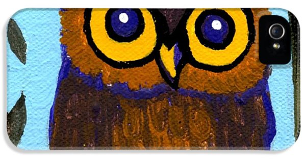 Bird Watcher iPhone 5 Cases - Owlette iPhone 5 Case by Genevieve Esson