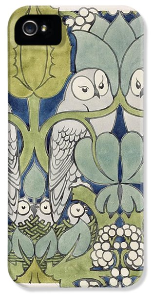 Arts And Crafts Movement iPhone 5 Cases - Owls, 1913 iPhone 5 Case by Charles Francis Annesley Voysey