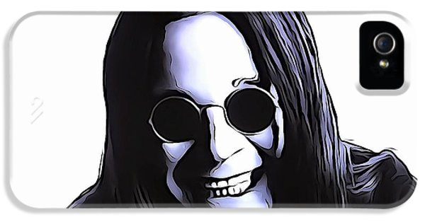 Ozzy Osbourne iPhone 5 Cases - Ozzy iPhone 5 Case by Dan Sproul