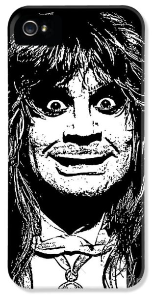 Ozzy Osbourne iPhone 5 Cases - Ozzy No.01 iPhone 5 Case by Caio Caldas