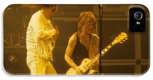 Ozzy Osbourne iPhone 5 Cases - Ozzy Osbourne and Randy Rhoads iPhone 5 Case by Rich Fuscia