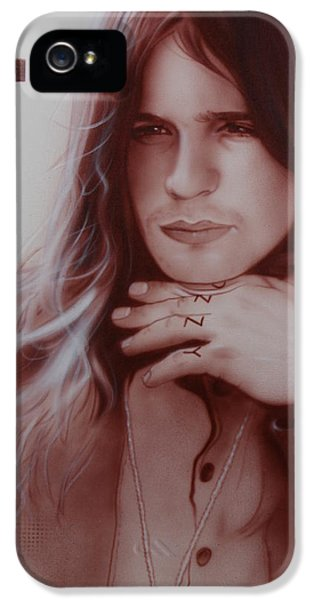 Ozzy Osbourne iPhone 5 Cases - Ozzy Osbourne iPhone 5 Case by Christian Chapman Art