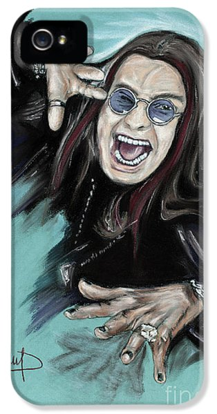Ozzy Osbourne iPhone 5 Cases - Ozzy Osbourne iPhone 5 Case by Melanie D
