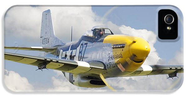 Air Force iPhone 5 Cases - P51 Ferocious Frankie iPhone 5 Case by Pat Speirs