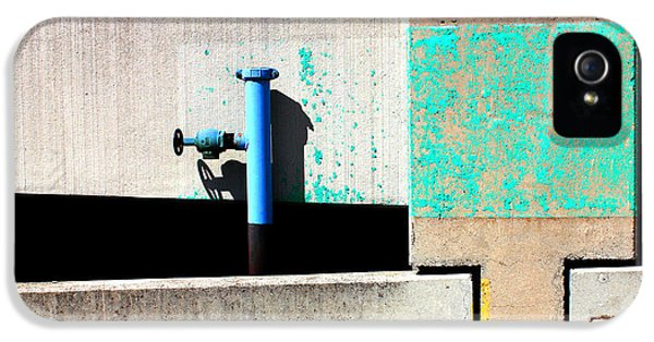 Industrial iPhone 5 Cases - Paint and Pipe Abstract Industrial Decay Series No 003 iPhone 5 Case by Design Turnpike