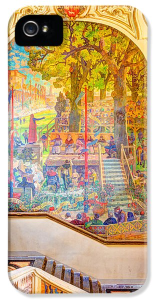 Exuberance iPhone 5 Cases - Painting in Capitole de Toulouse iPhone 5 Case by Semmick Photo