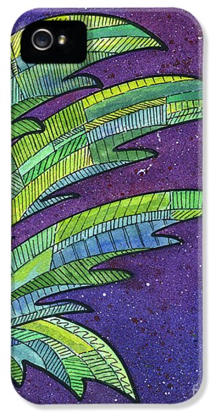 Palms Against The Night Sky IPhone 5 / 5s Case by Diane Thornton
