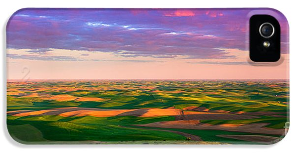 Agricultural iPhone 5 Cases - Palouse Land and Sky iPhone 5 Case by Inge Johnsson