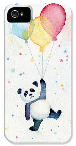 Panda Floating With Balloons IPhone 5 / 5s Case by Olga Shvartsur