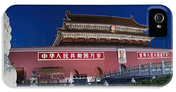 Chairman iPhone 5 Cases - Panorama of Lion and Forbidden City Gate Beijing China  iPhone 5 Case by David Smith