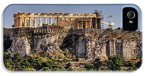 Archeology iPhone 5 Cases - Panorama of the Acropolis in Athens iPhone 5 Case by David Smith
