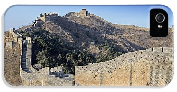 Nl iPhone 5 Cases - Panorama of the Great Wall of China iPhone 5 Case by Brendan Reals