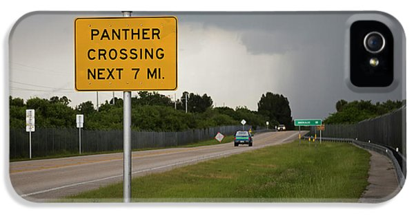 Panther Warning Sign IPhone 5 / 5s Case by Jim West