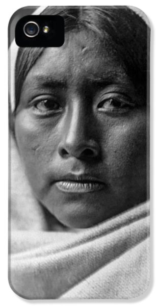 Native American Woman iPhone 5 Cases - Papago Indian woman circa 1907 iPhone 5 Case by Aged Pixel
