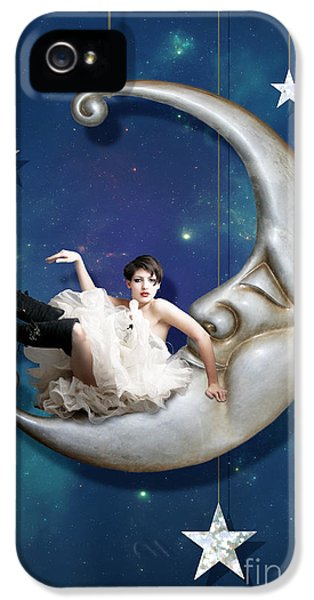 Moon iPhone 5 Cases - Paper Moon iPhone 5 Case by Linda Lees