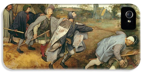 Ill iPhone 5 Cases - Parable Of The Blind, 1568 Tempera On Canvas iPhone 5 Case by Pieter the Elder Bruegel
