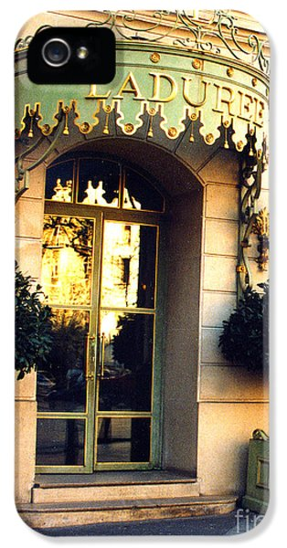 Eatery iPhone 5 Cases - Paris Laduree French Bakery Patisserie - Champs Elysees Location iPhone 5 Case by Kathy Fornal