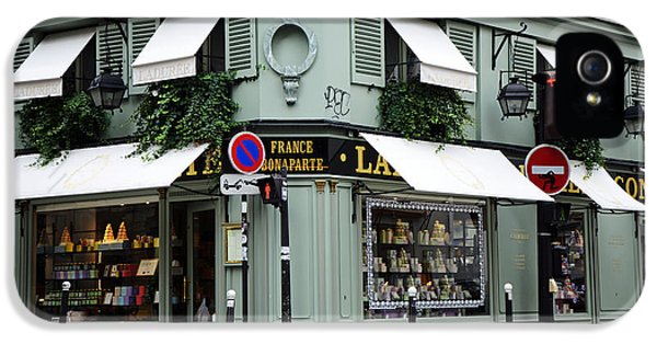Eatery iPhone 5 Cases - Paris Laduree Macaron French Bakery Patisserie Tea Shop - Laduree Bonaparte - The Laduree Patisserie iPhone 5 Case by Kathy Fornal