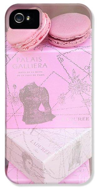 Eatery iPhone 5 Cases - Paris Laduree Pink Box - Paris Laduree Pink Macarons - Paris Laduree Pink Pastel Window Display  iPhone 5 Case by Kathy Fornal