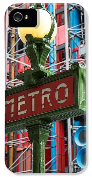 Pipes iPhone 5 Cases - Paris Metro iPhone 5 Case by Inge Johnsson