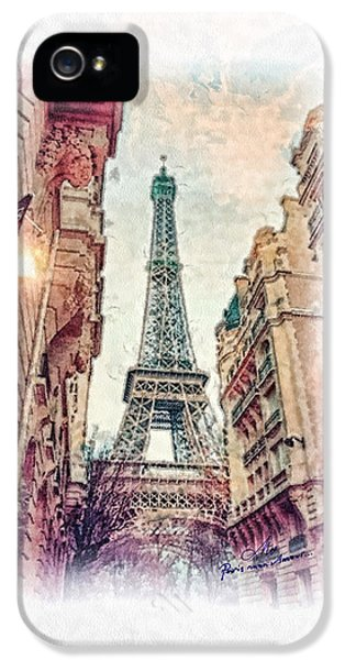 Mo T iPhone 5 Cases - Paris mon Amour iPhone 5 Case by Mo T