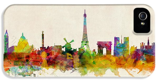 Cities iPhone 5 Cases - Paris Skyline iPhone 5 Case by Michael Tompsett