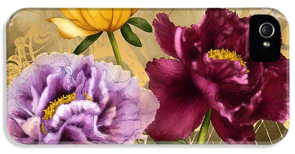 Swallowtail iPhone 5 Cases - Parisian Peonies iPhone 5 Case by April Moen