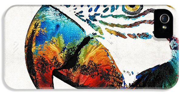 Parrot Head Art By Sharon Cummings IPhone 5 / 5s Case by Sharon Cummings