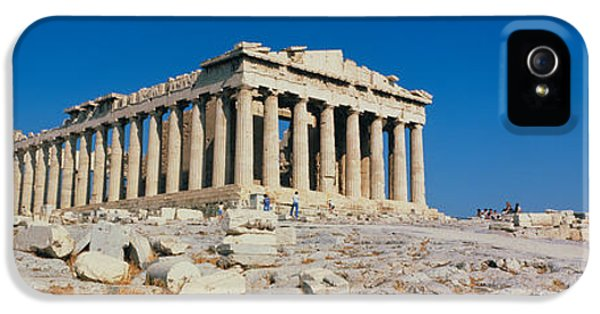 Restoration iPhone 5 Cases - Parthenon Athens Greece iPhone 5 Case by Panoramic Images
