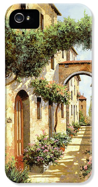 Street Scene iPhone 5 Cases - Passando Sotto Larco iPhone 5 Case by Guido Borelli