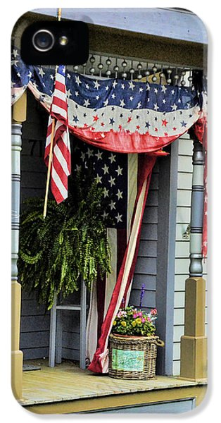 Stars And Strips iPhone 5 Cases - Patriotic Porch iPhone 5 Case by Ken Smith