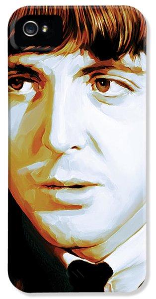 Paul Mccartney iPhone 5 Cases - Paul McCartney Artwork iPhone 5 Case by Sheraz A